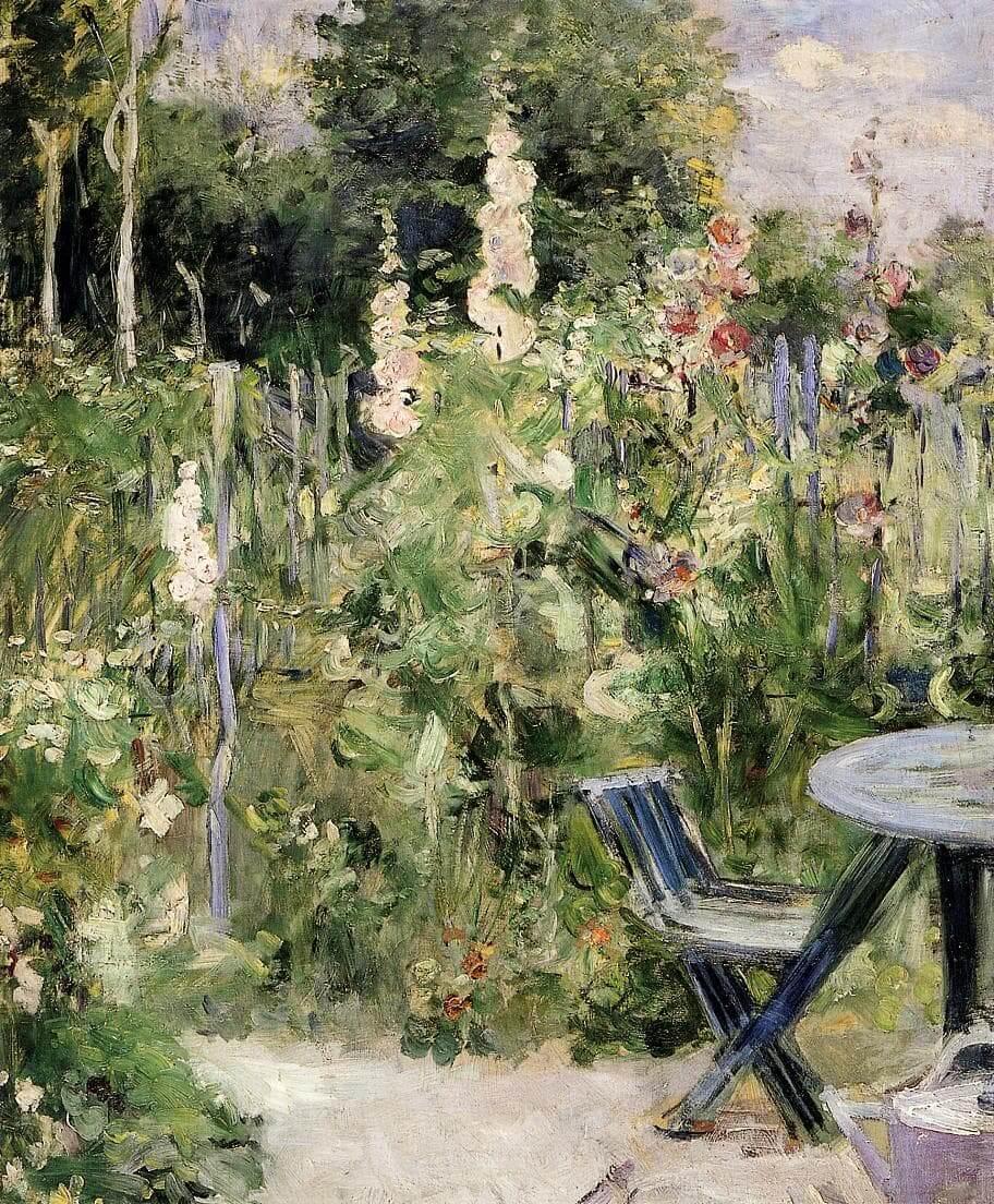 Roses Tremieres,由 Berthe Morisot 所繪