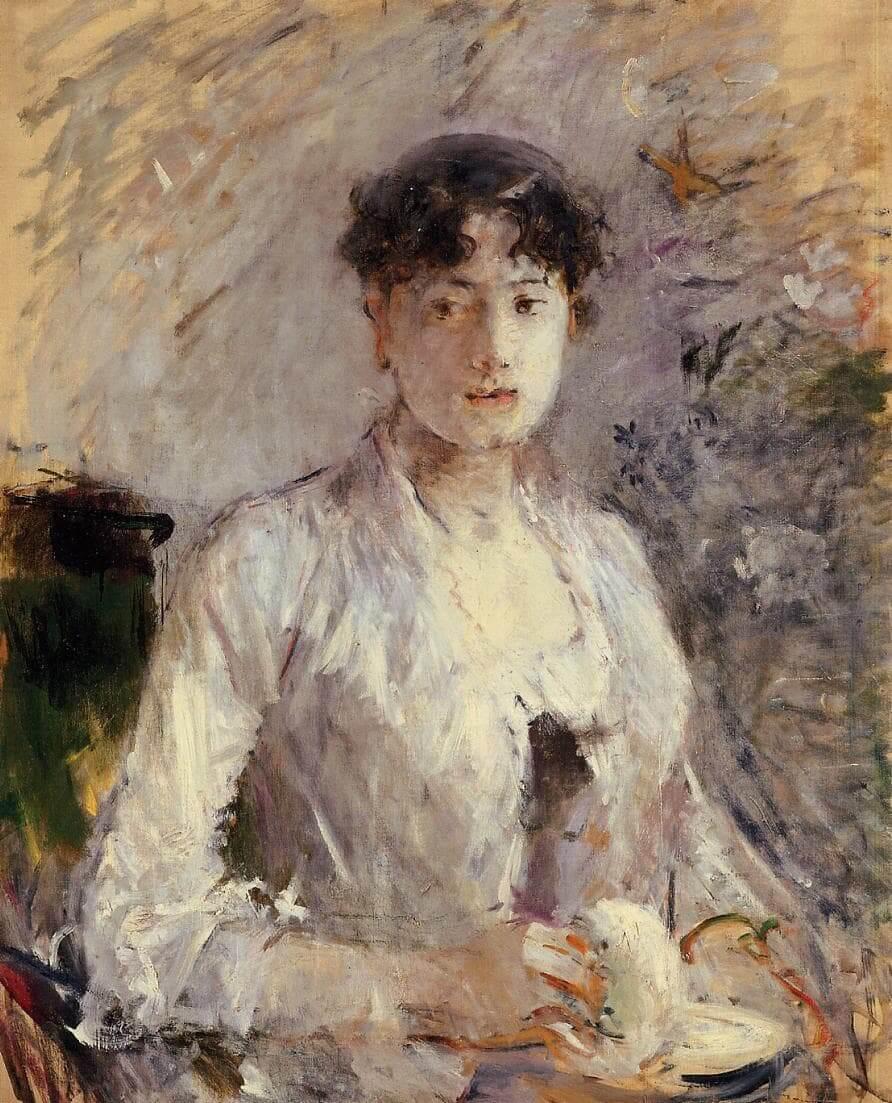 Young Woman in Mauve,由 Berthe Morisot 所繪